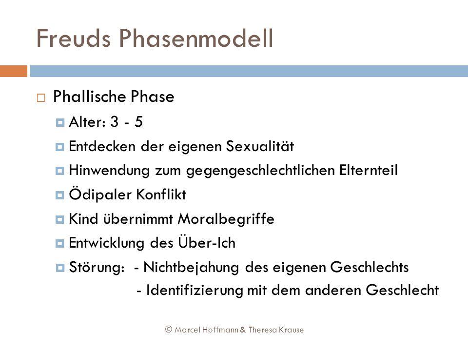 Freuds Phasenmodell Phallische Phase Alter: 3 - 5