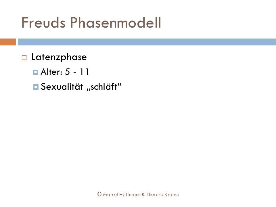 """Freuds Phasenmodell Latenzphase Sexualität """"schläft Alter: 5 - 11"""