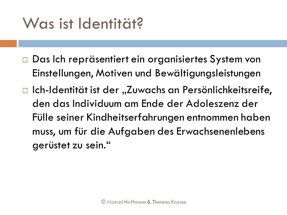 Was ist Identität Das Ich repräsentiert ein organisiertes System von Einstellungen, Motiven und Bewältigungsleistungen.