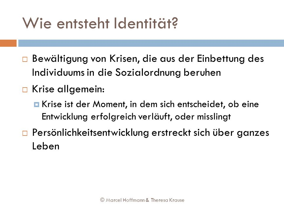 Wie entsteht Identität