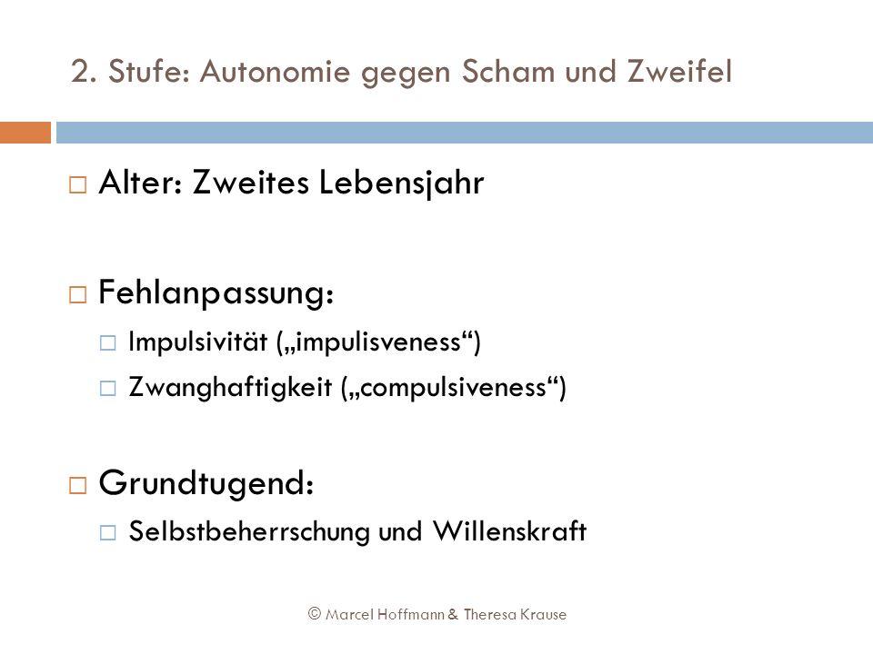2. Stufe: Autonomie gegen Scham und Zweifel