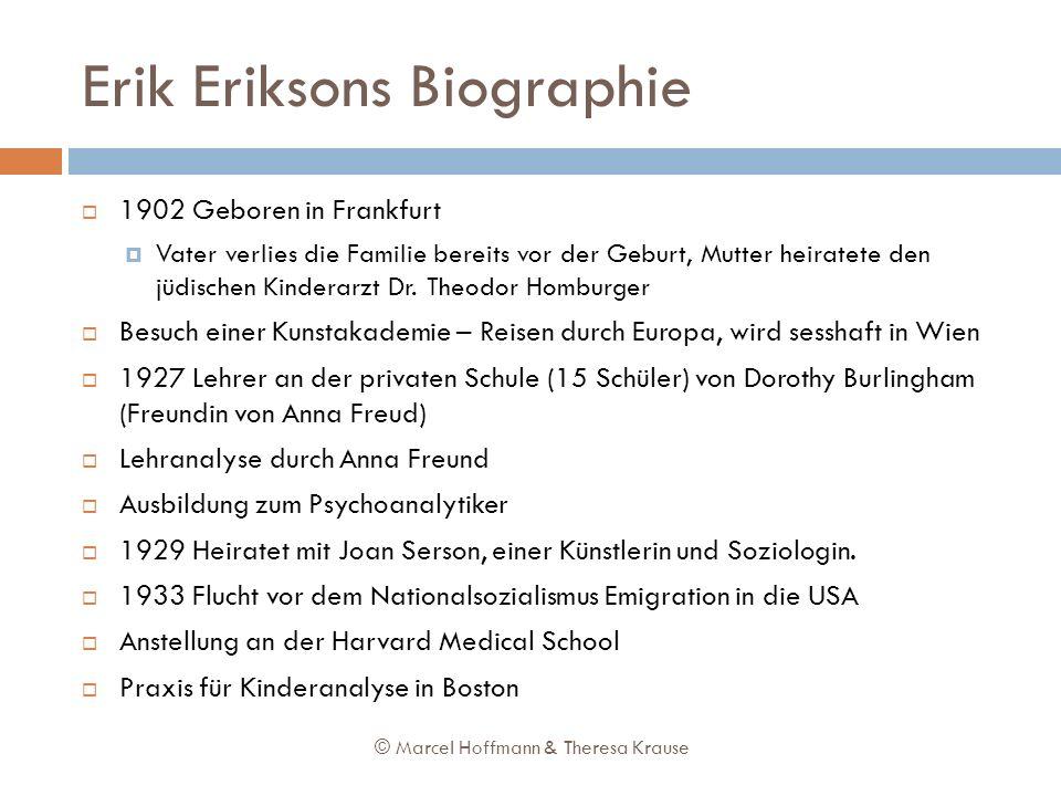 Erik Eriksons Biographie