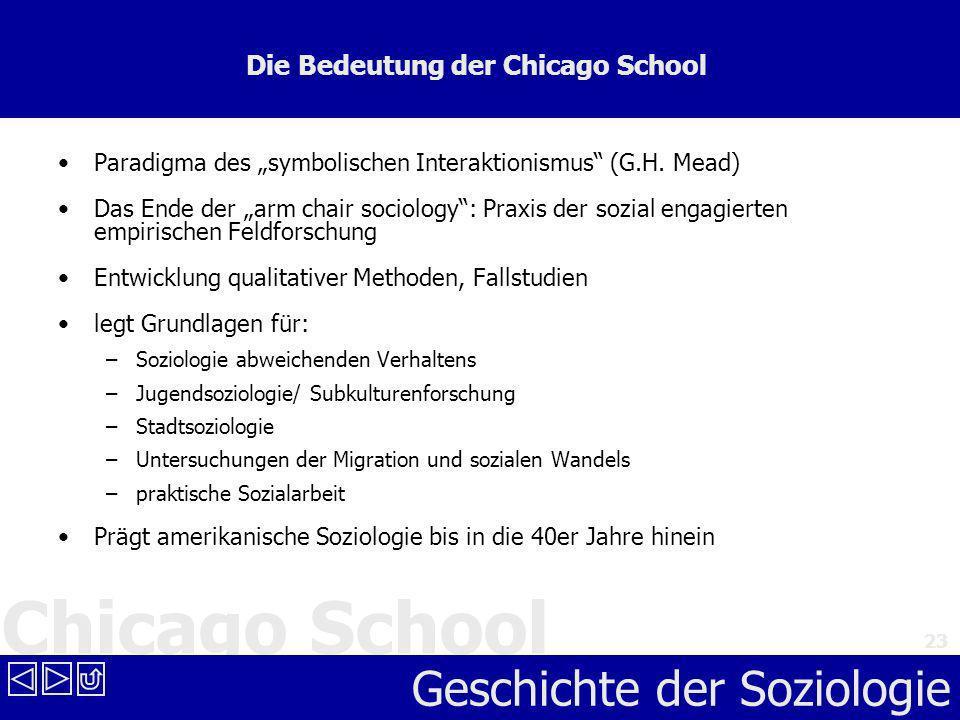 Die Bedeutung der Chicago School