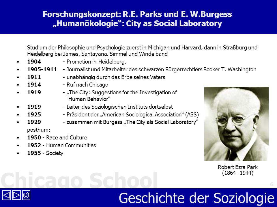 Forschungskonzept: R. E. Parks und E. W