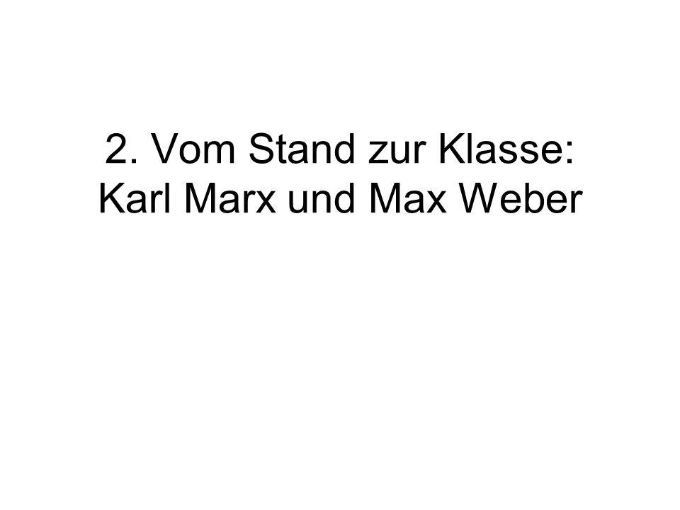 2. Vom Stand zur Klasse: Karl Marx und Max Weber