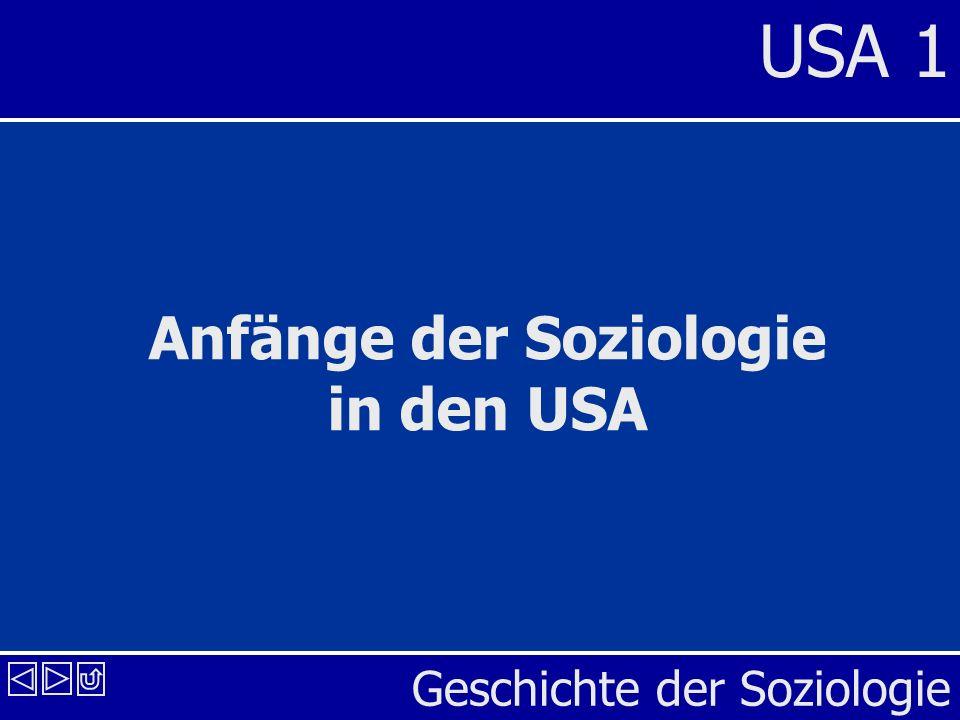 Anfänge der Soziologie in den USA