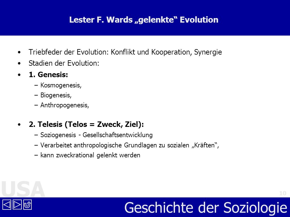 "Lester F. Wards ""gelenkte Evolution"