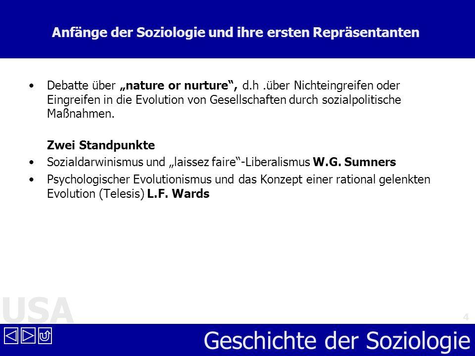 Anfänge der Soziologie und ihre ersten Repräsentanten