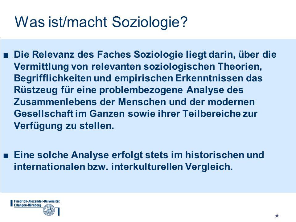 Was ist/macht Soziologie
