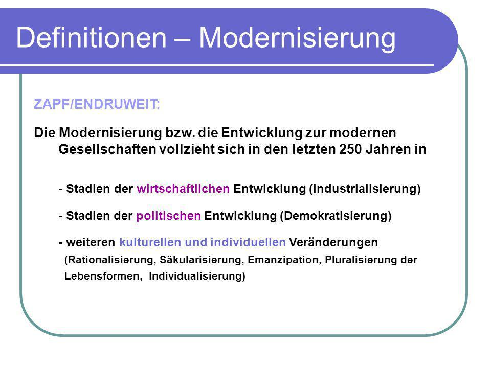 Definitionen – Modernisierung