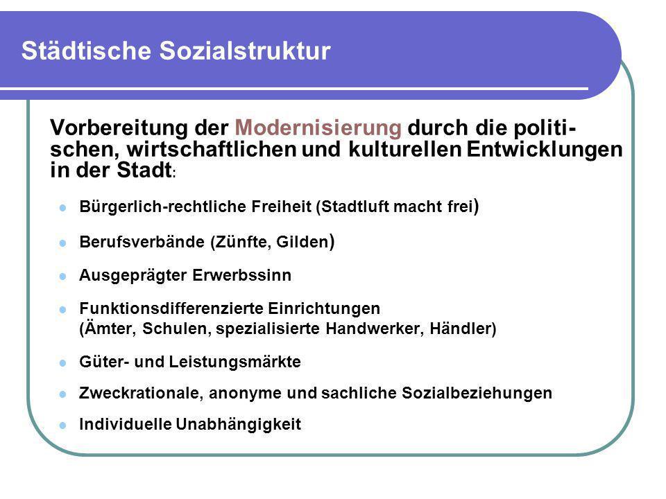 Städtische Sozialstruktur