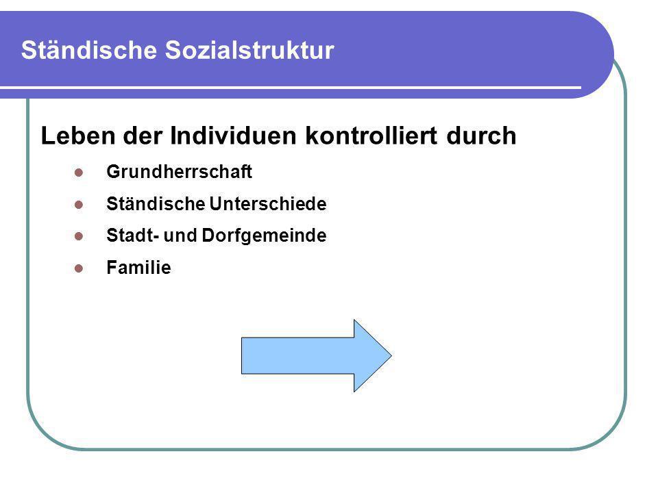 Ständische Sozialstruktur