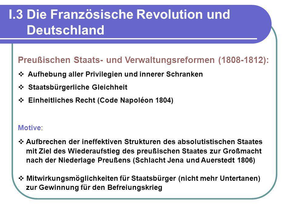 I.3 Die Französische Revolution und Deutschland