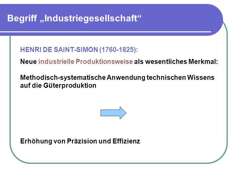 """Begriff """"Industriegesellschaft"""