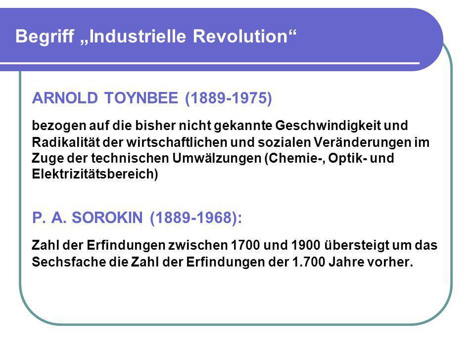 """Begriff """"Industrielle Revolution"""