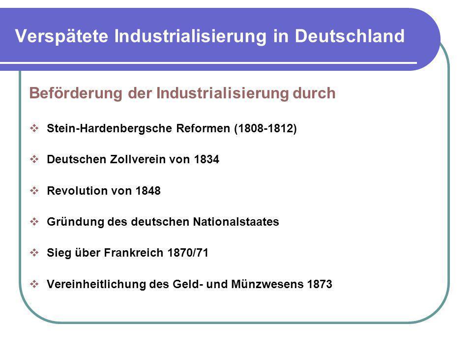 Verspätete Industrialisierung in Deutschland