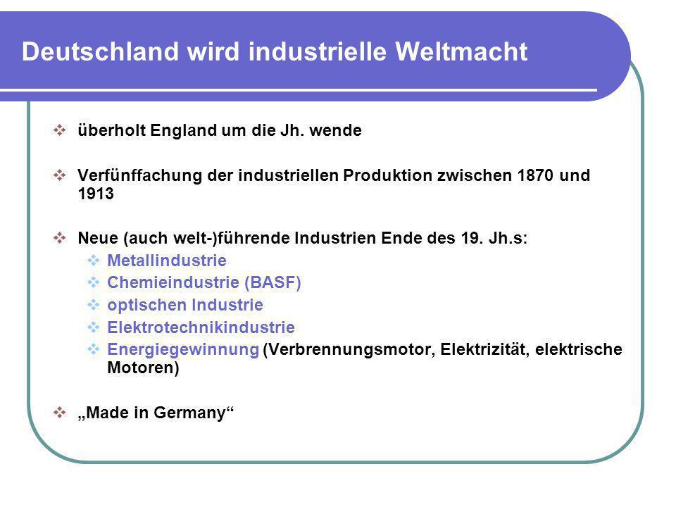 Deutschland wird industrielle Weltmacht