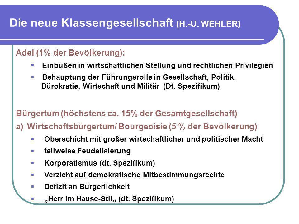 Die neue Klassengesellschaft (H.-U. WEHLER)