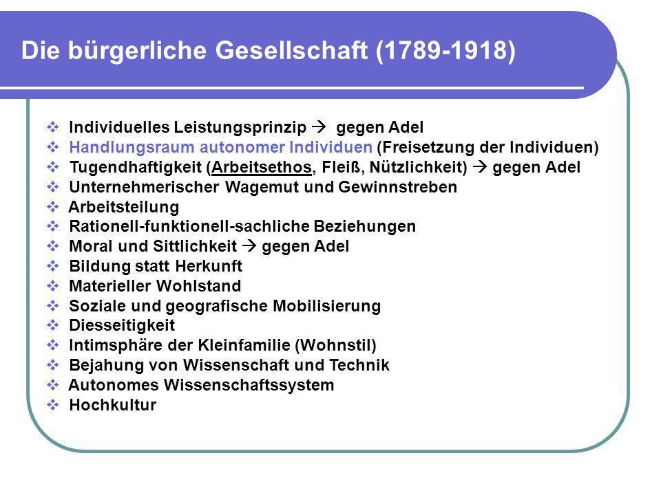 Die bürgerliche Gesellschaft (1789-1918)
