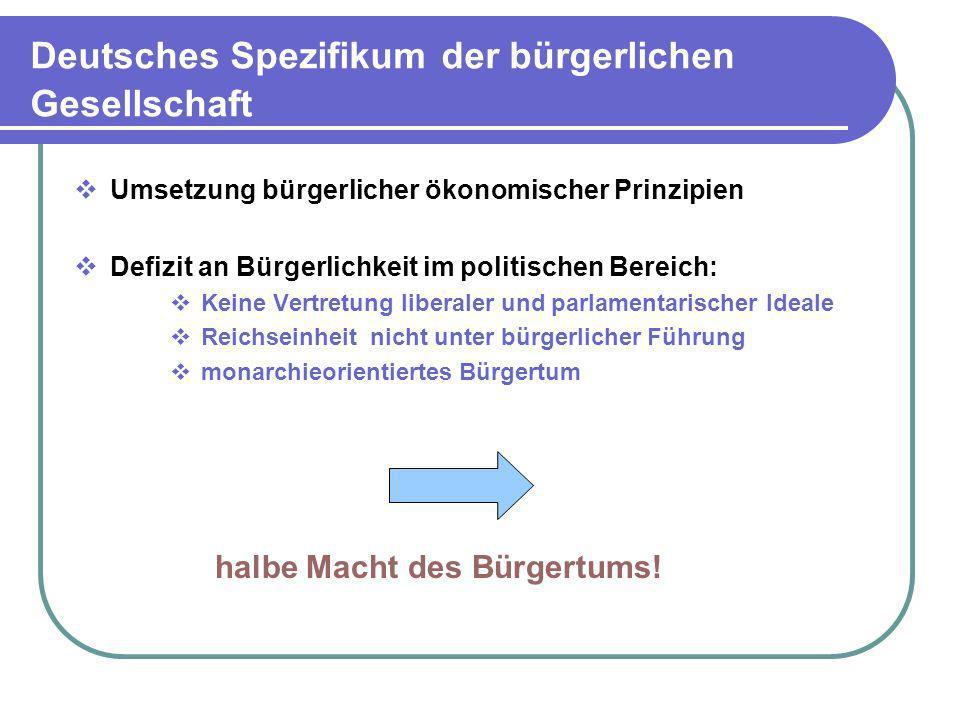Deutsches Spezifikum der bürgerlichen Gesellschaft