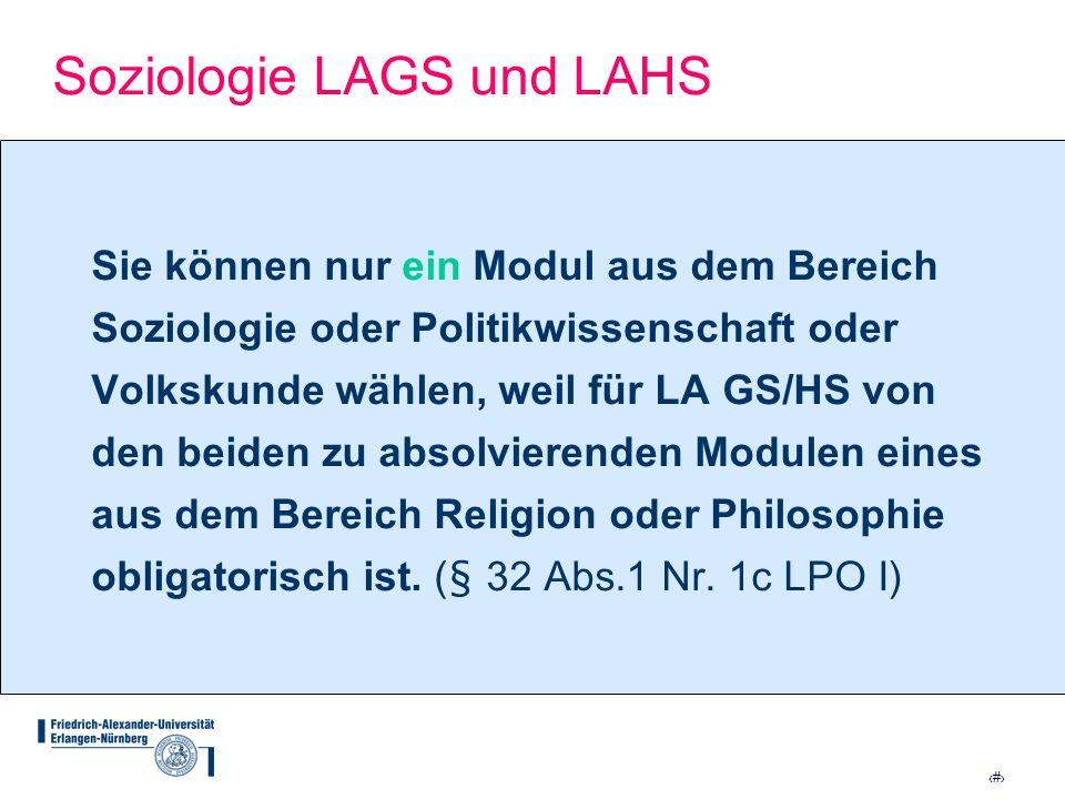 Soziologie LAGS und LAHS