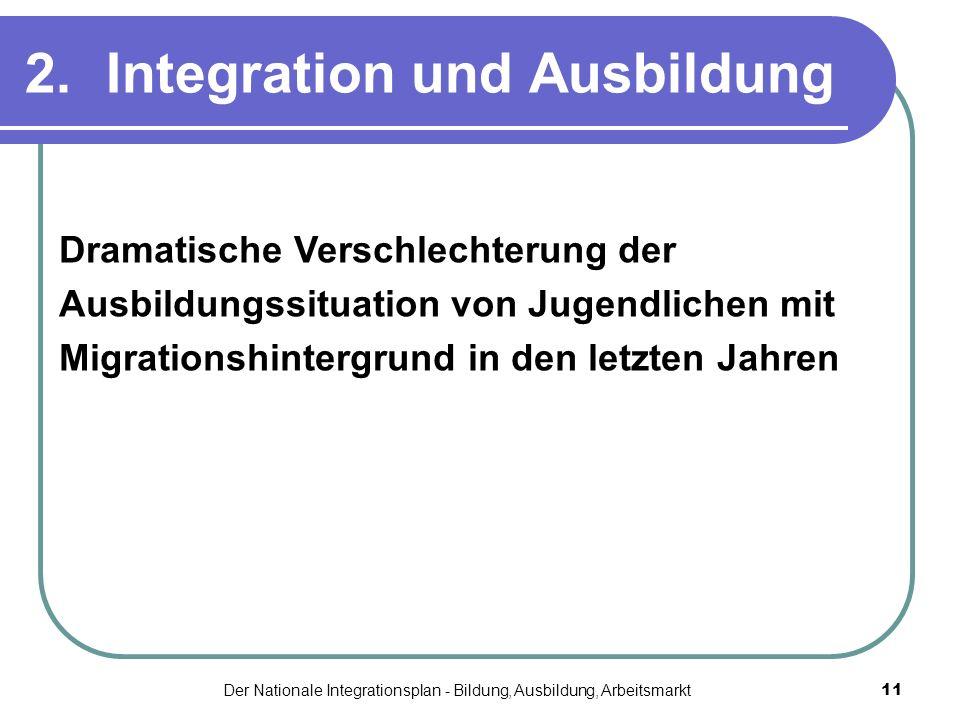 2. Integration und Ausbildung