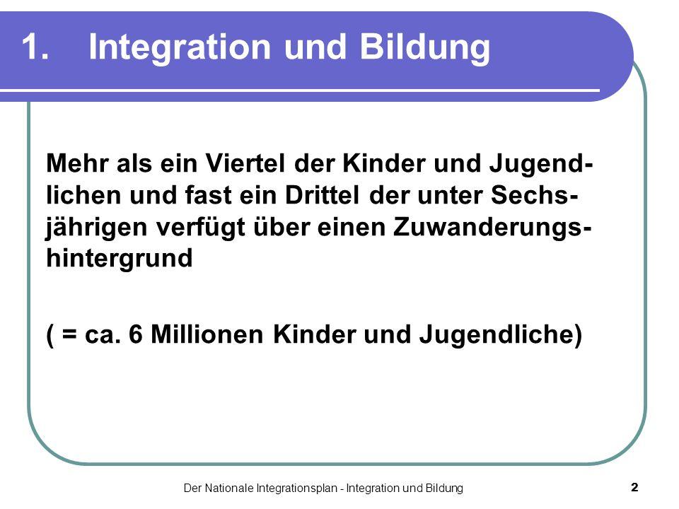 1. Integration und Bildung