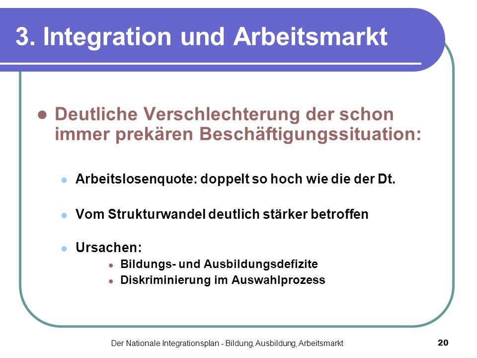 3. Integration und Arbeitsmarkt