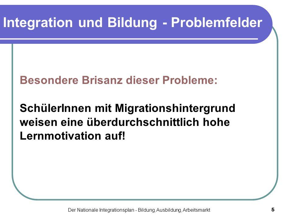 Integration und Bildung - Problemfelder
