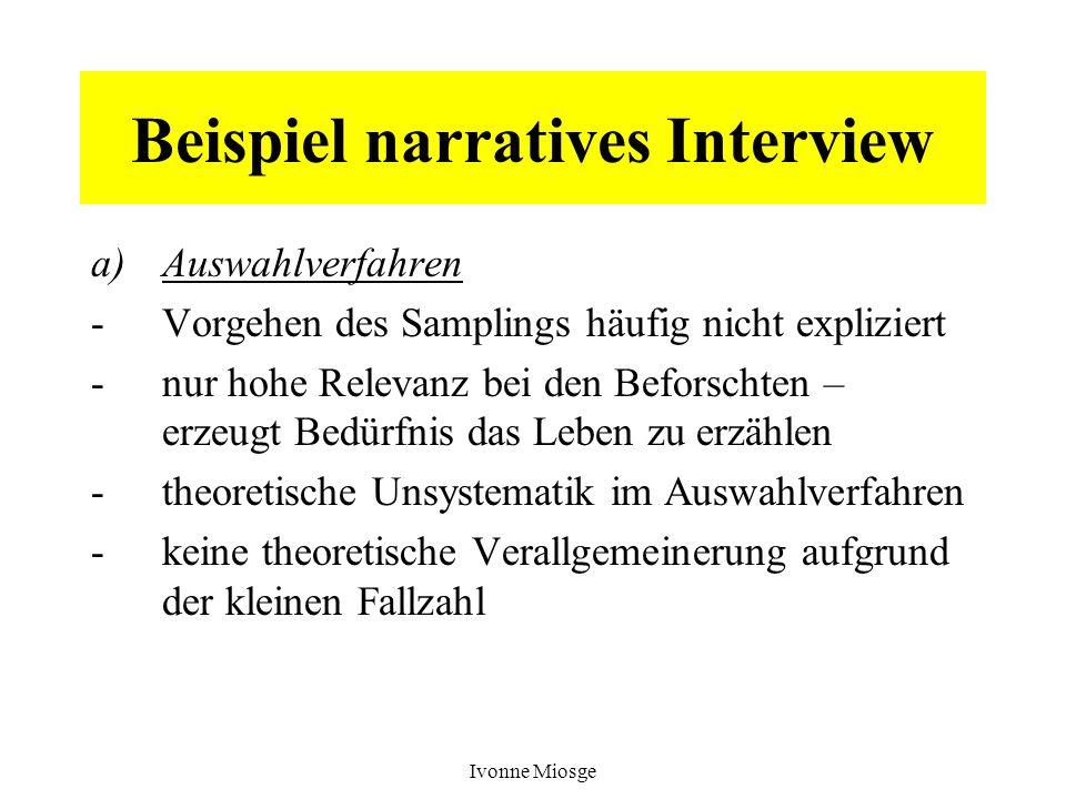 Beispiel narratives Interview