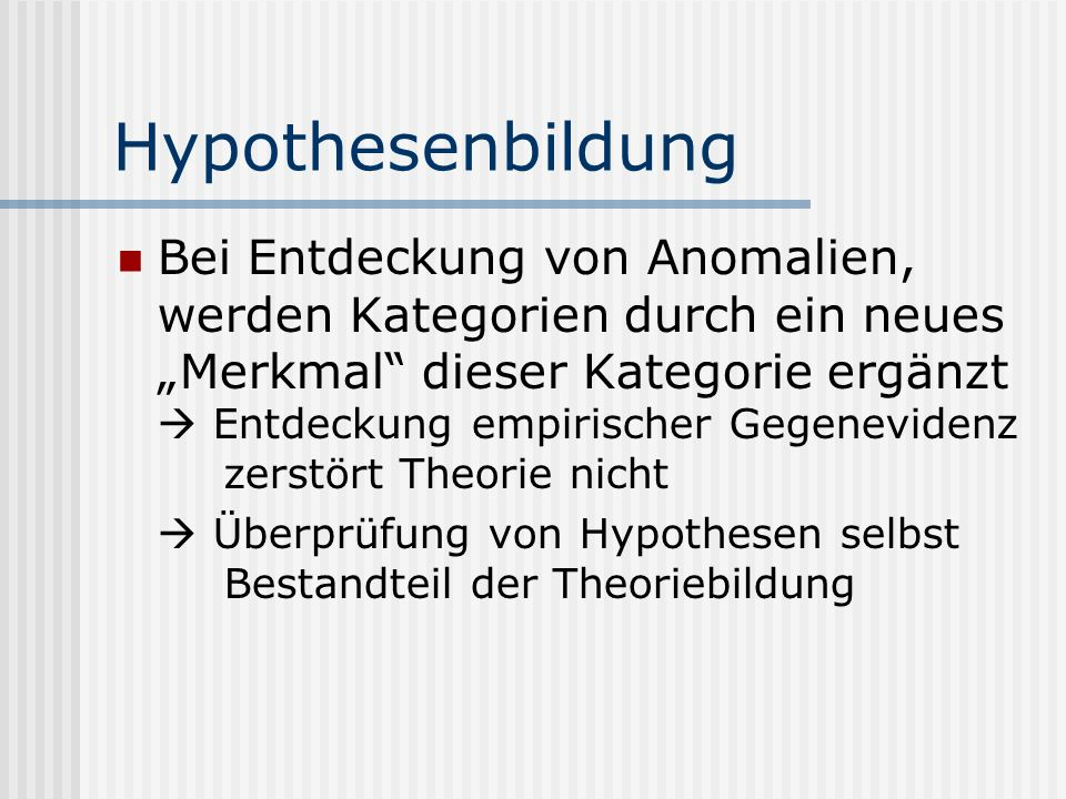 Hypothesenbildung