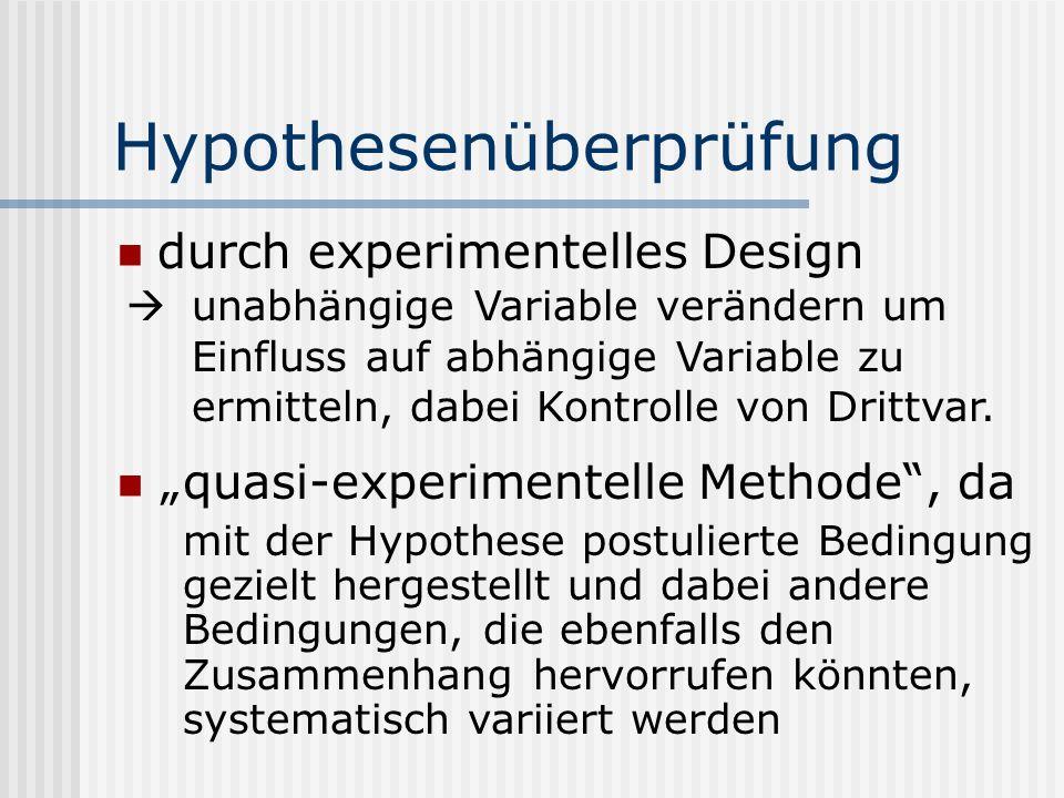 Hypothesenüberprüfung