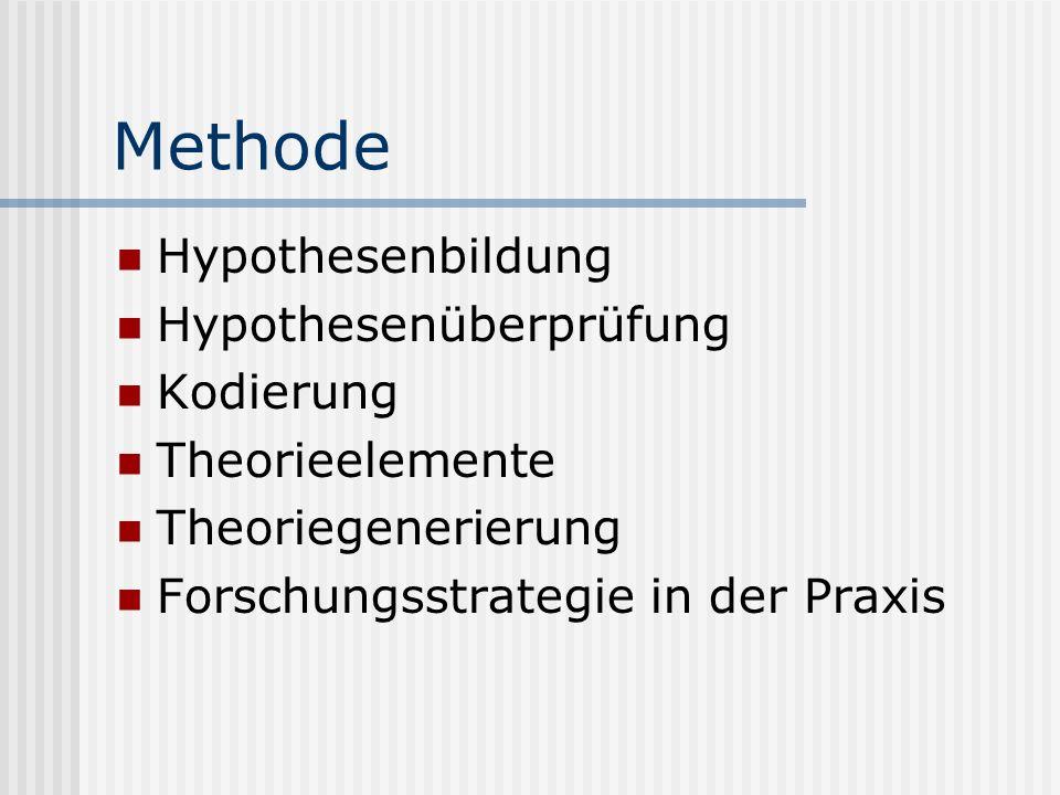 Methode Hypothesenbildung Hypothesenüberprüfung Kodierung