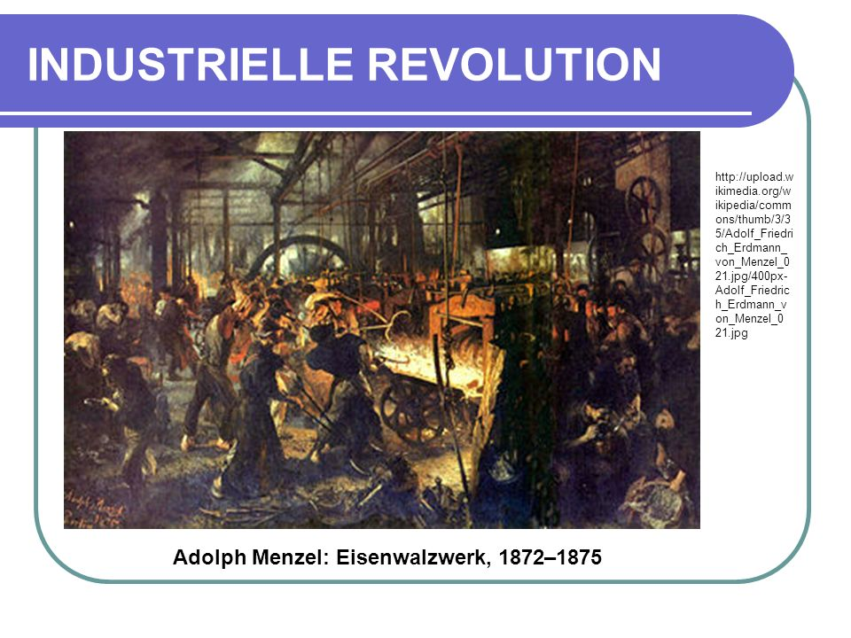 INDUSTRIELLE REVOLUTION