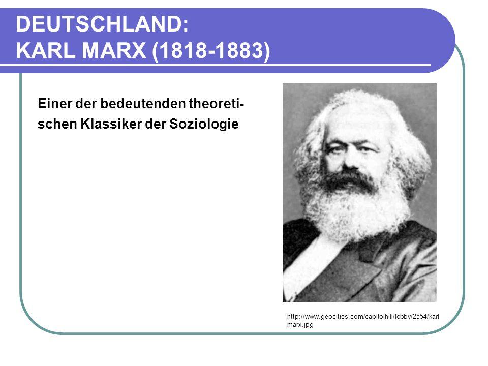 DEUTSCHLAND: KARL MARX (1818-1883)