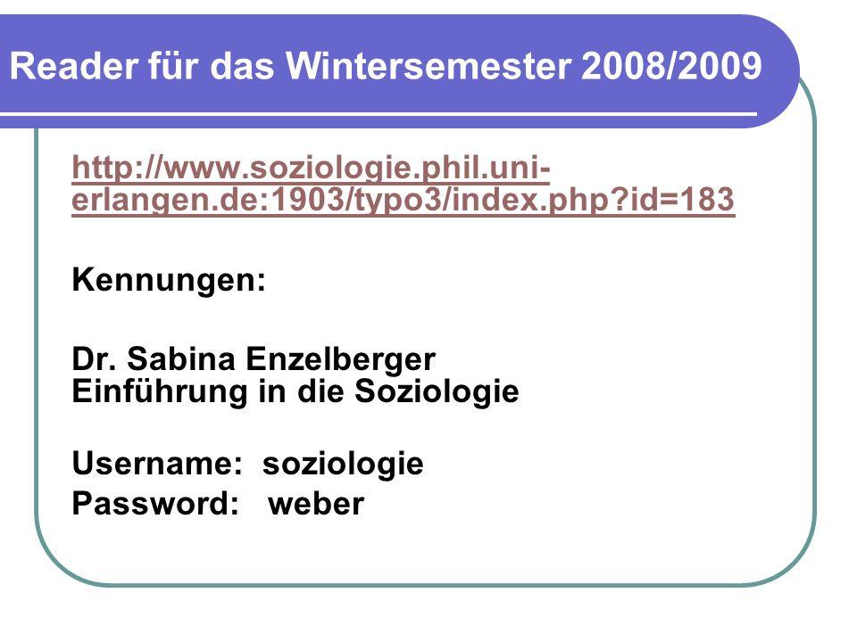 Reader für das Wintersemester 2008/2009