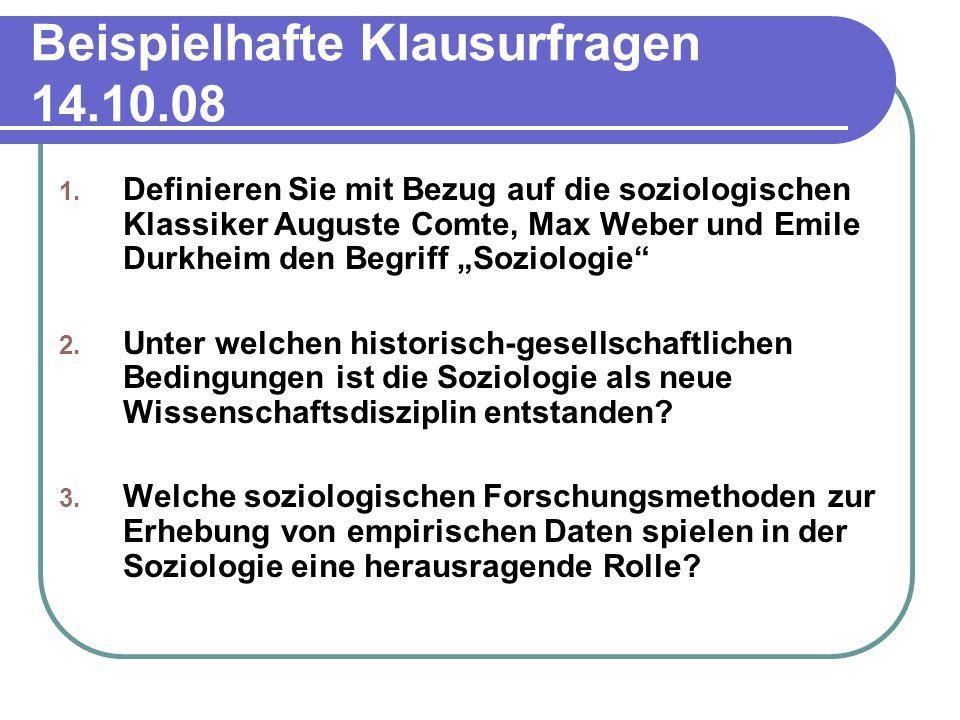 Beispielhafte Klausurfragen 14.10.08