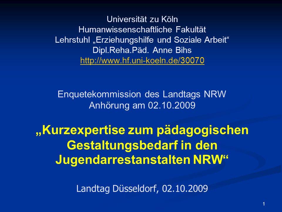 """Universität zu Köln Humanwissenschaftliche Fakultät Lehrstuhl """"Erziehungshilfe und Soziale Arbeit Dipl.Reha.Päd."""