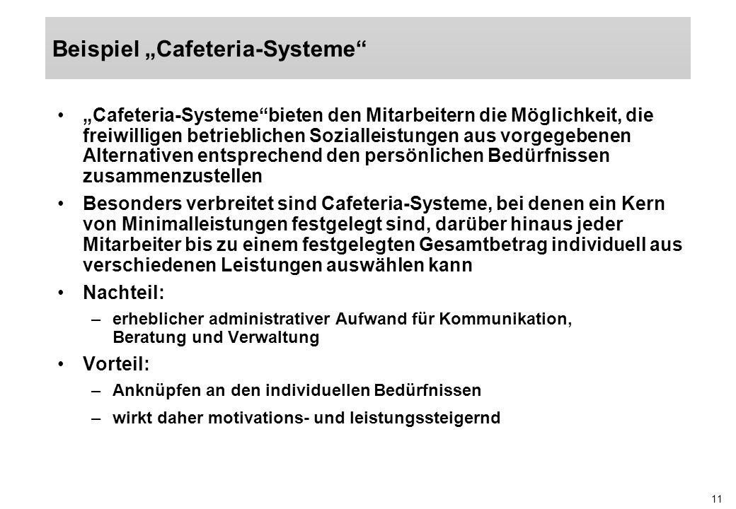 """Beispiel """"Cafeteria-Systeme"""