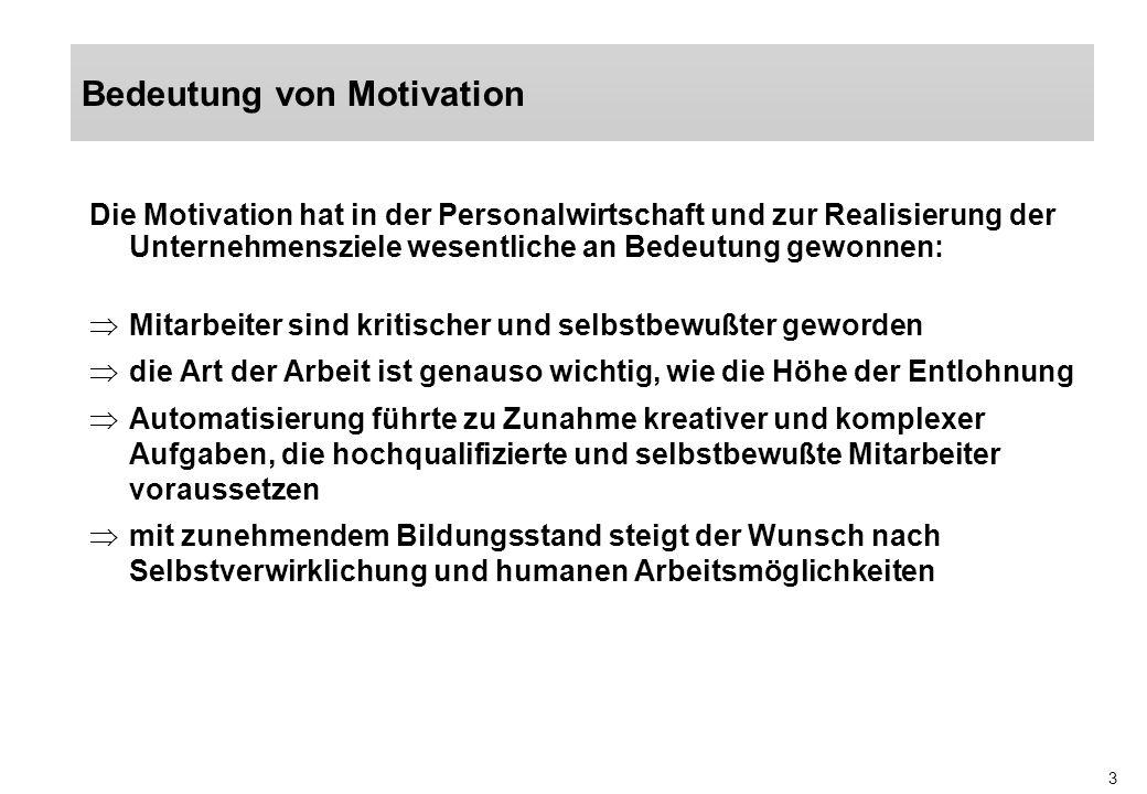 Bedeutung von Motivation