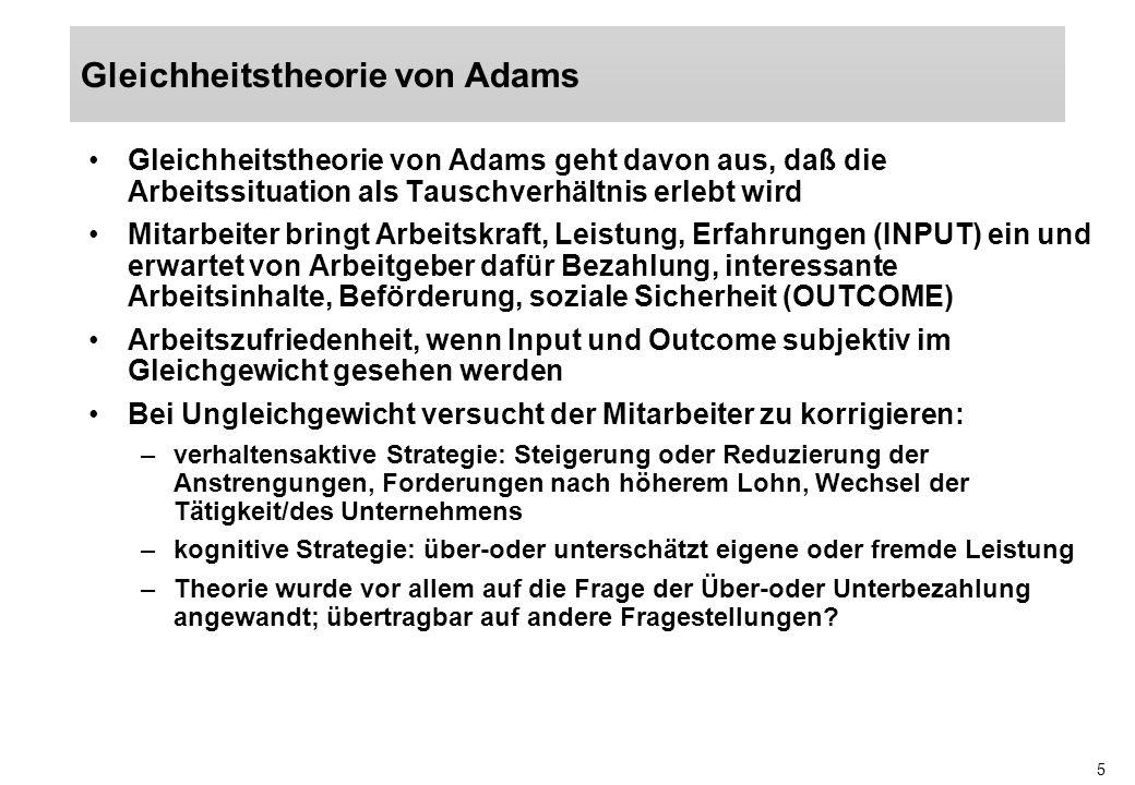 Gleichheitstheorie von Adams