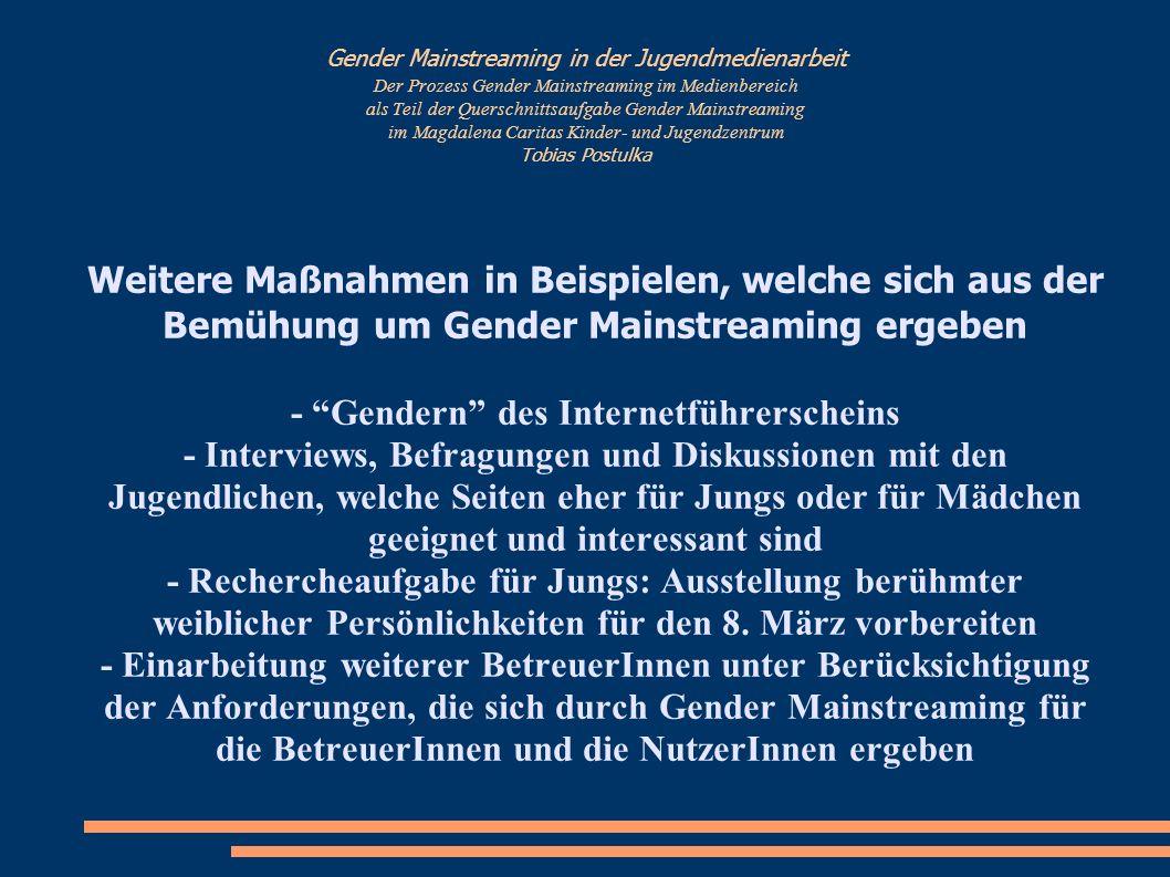 - Gendern des Internetführerscheins