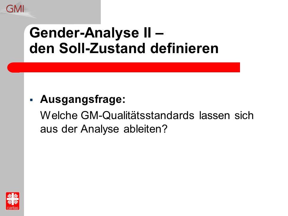 Gender-Analyse II – den Soll-Zustand definieren