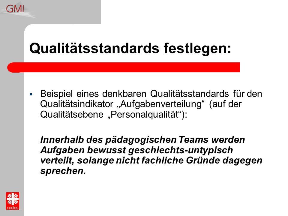 Qualitätsstandards festlegen: