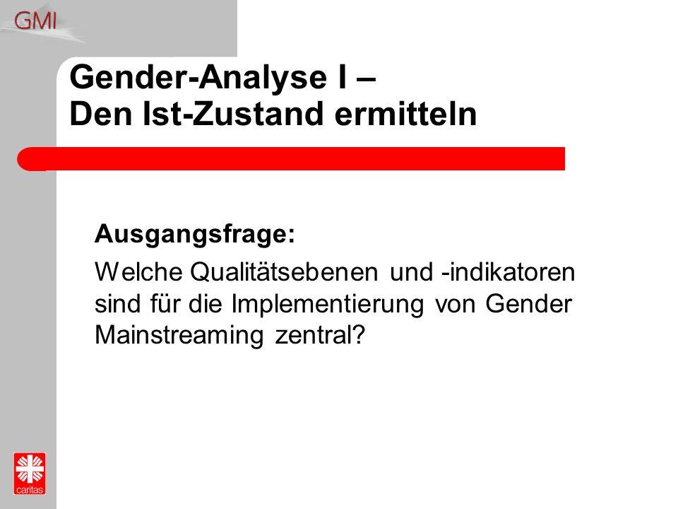 Gender-Analyse I – Den Ist-Zustand ermitteln