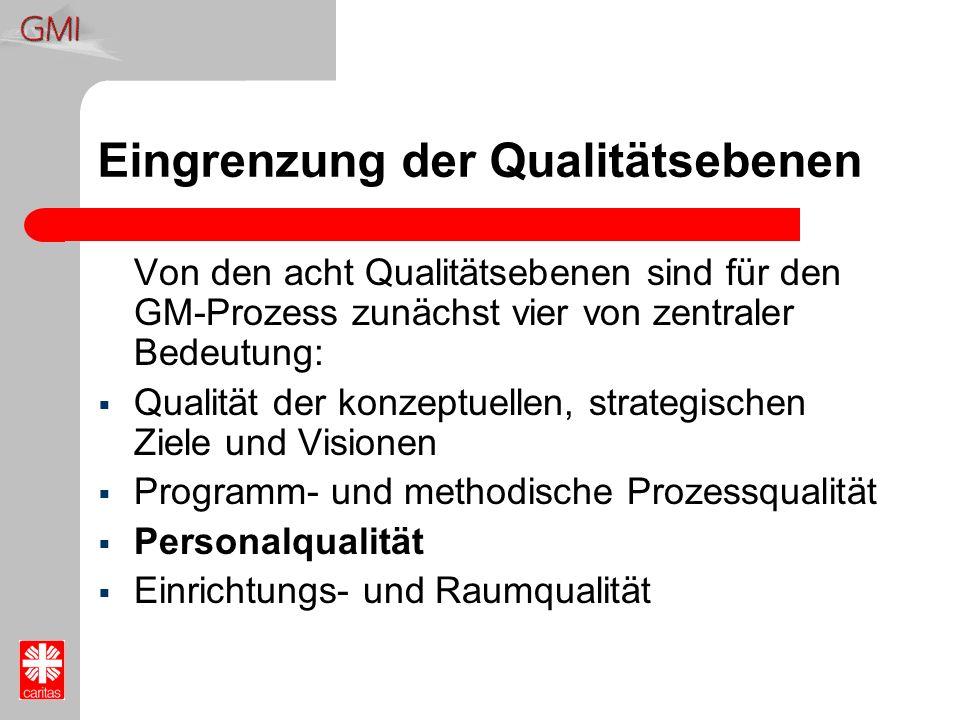 Eingrenzung der Qualitätsebenen