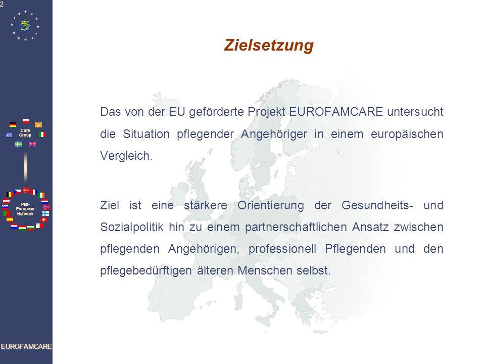Zielsetzung Das von der EU geförderte Projekt EUROFAMCARE untersucht die Situation pflegender Angehöriger in einem europäischen Vergleich.