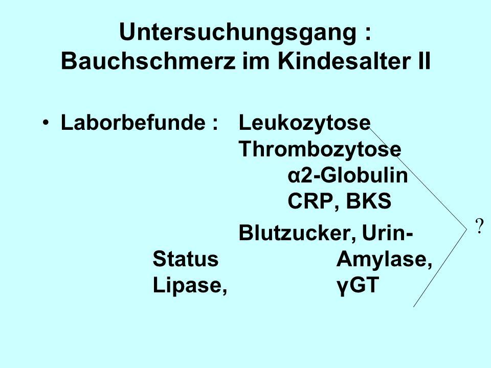 Untersuchungsgang : Bauchschmerz im Kindesalter II