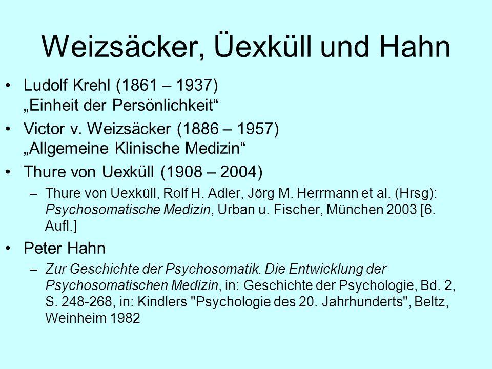 Weizsäcker, Üexküll und Hahn