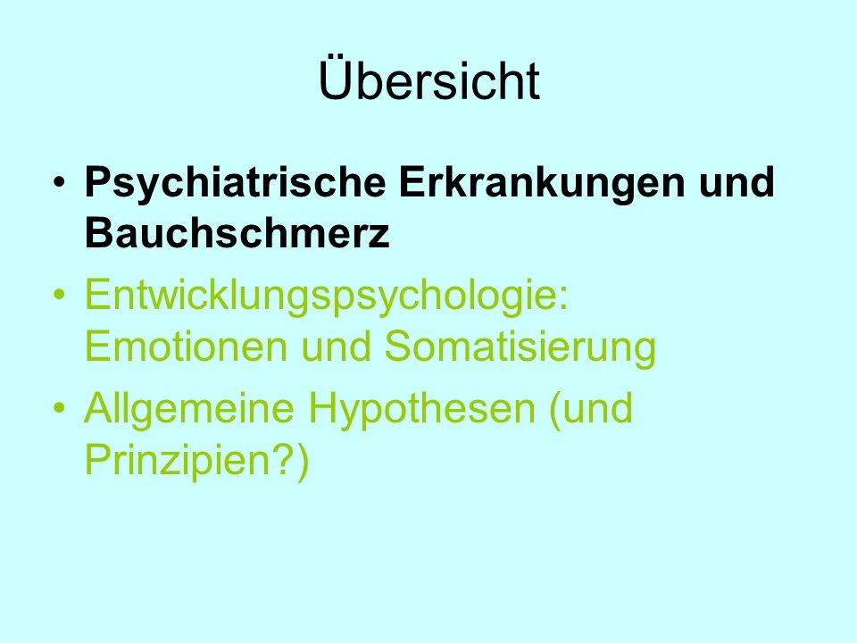 Übersicht Psychiatrische Erkrankungen und Bauchschmerz